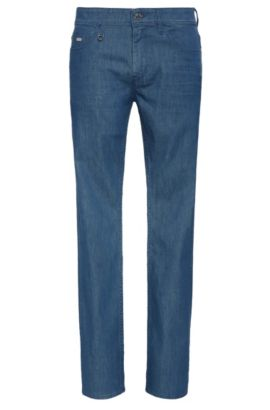Slim-fit jeans in stretch cotton: 'Drake2', Blue