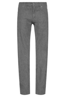 Regular-Fit Jeans aus elastischer Baumwolle: ´C-Maine1`, Dunkelgrau