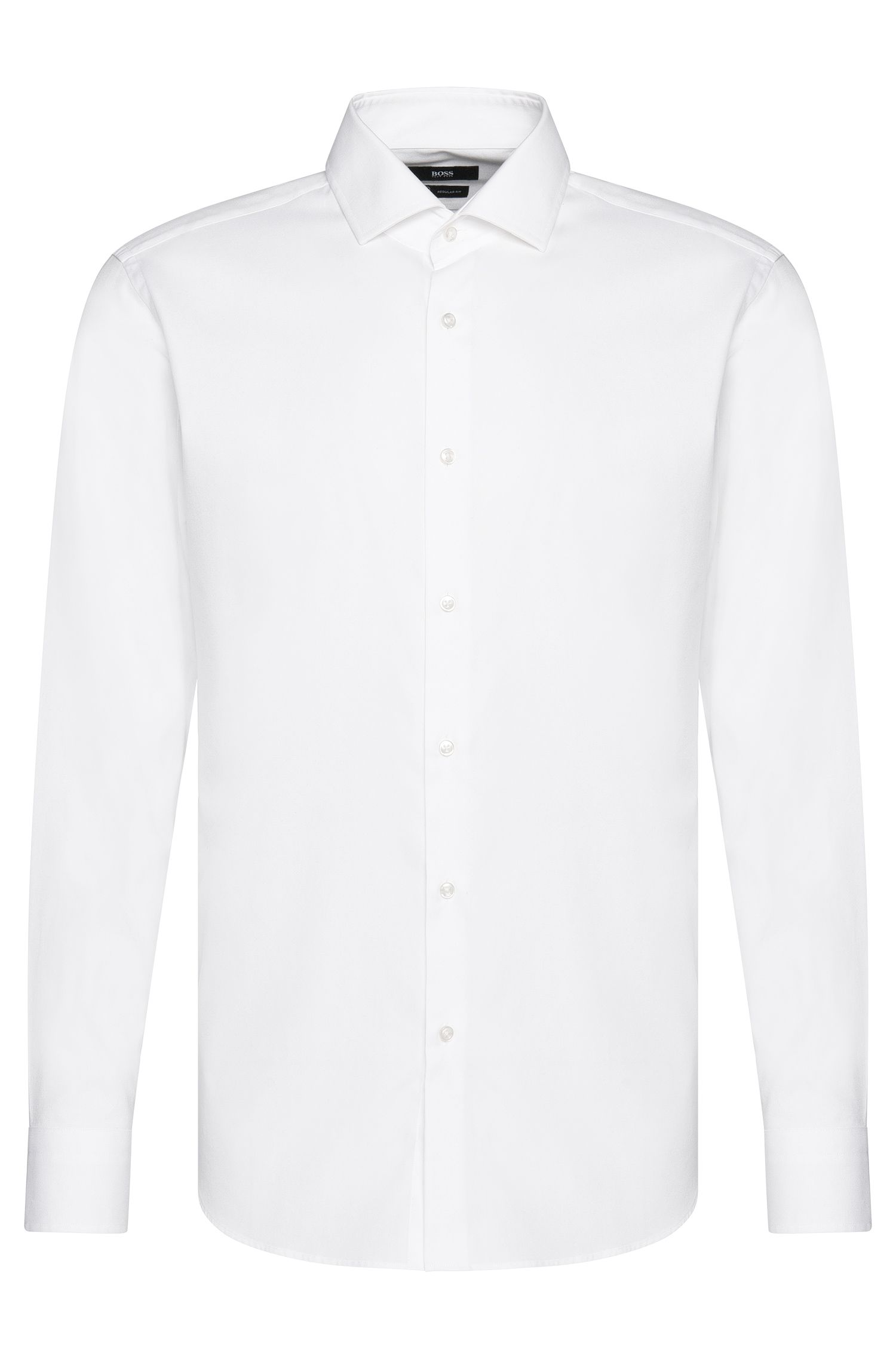 Regular-fit Travel Line shirt in cotton: 'Gordon'