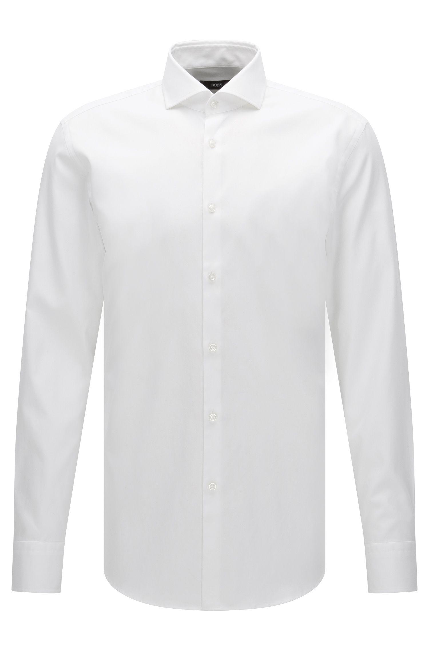 Slim-fit Travel Line shirt in non-iron cotton: 'Jason'