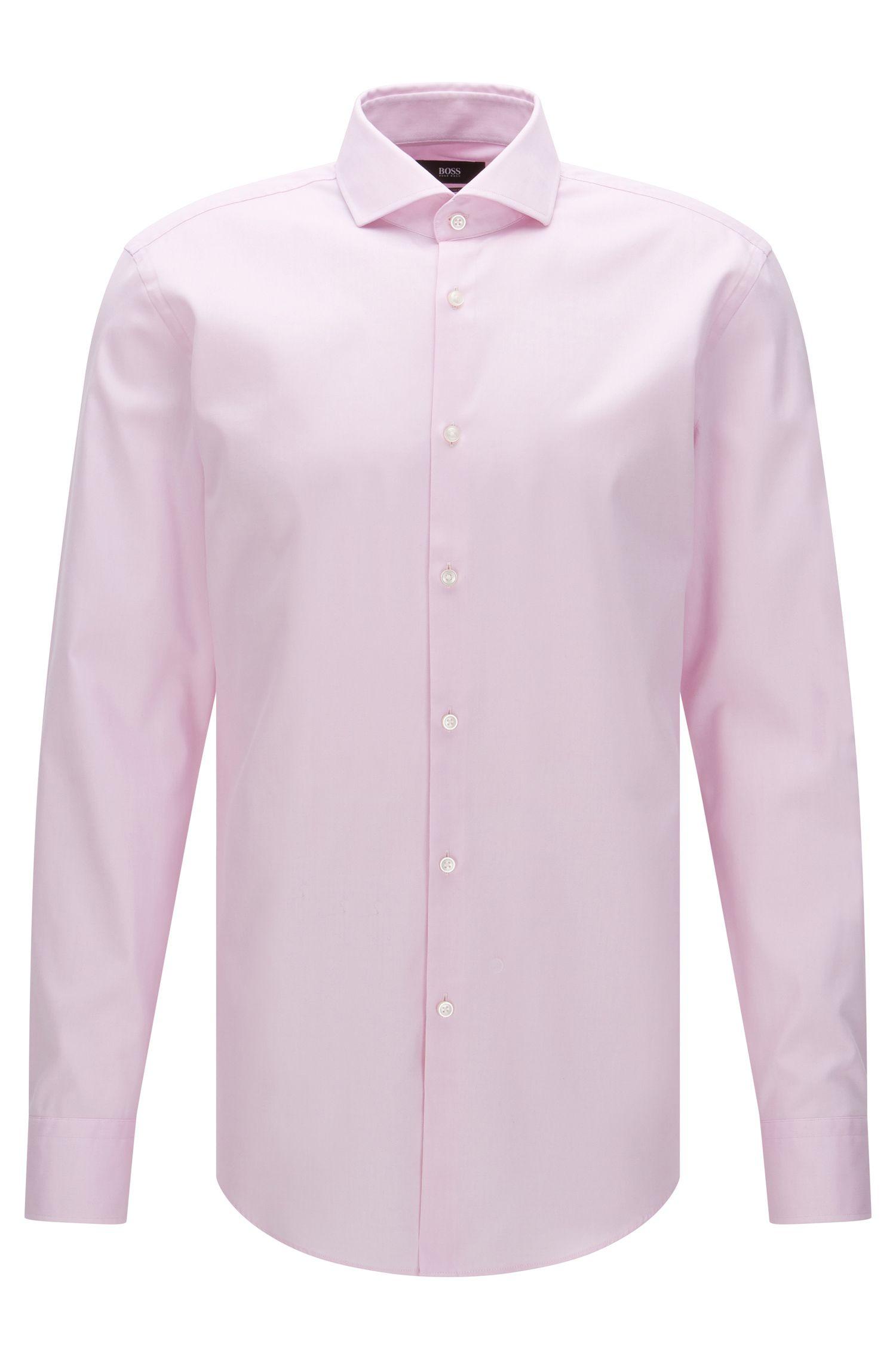 Camisa slim fit Travel Line en algodón que no necesita planchado: 'Jason'