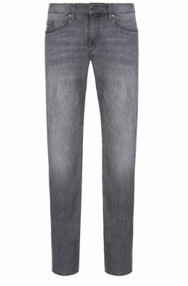Slim-fit jeans in stretch cotton: 'C-DELAWARE1', Silver