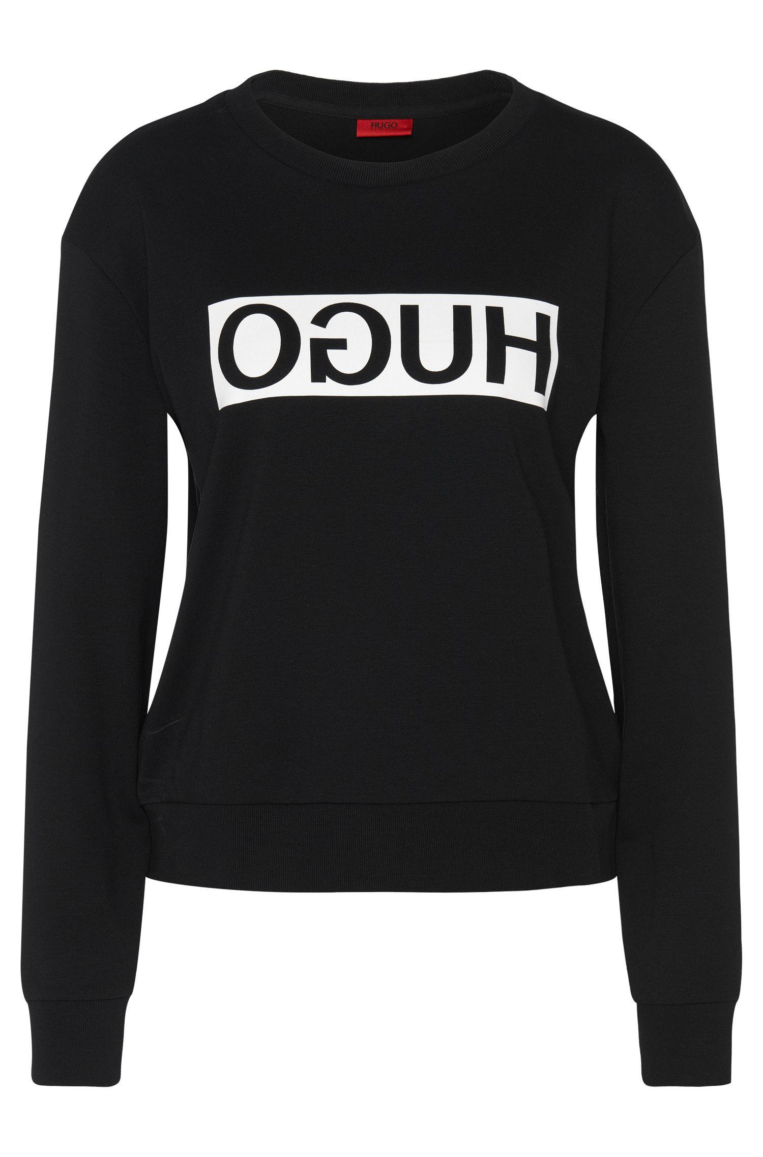 Sweatshirt van katoen met HUGO Reversed-logo: 'Nicci'