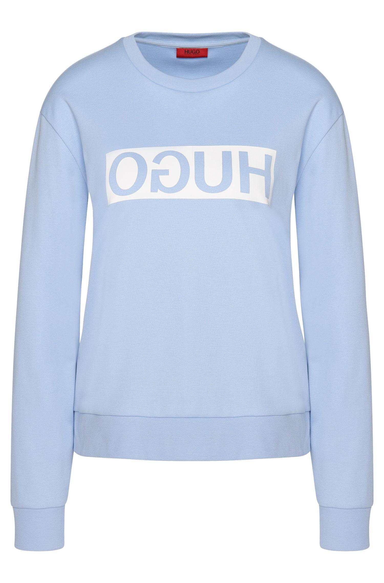 Felpa in cotone con logo HUGO Reversed: 'Nicci'