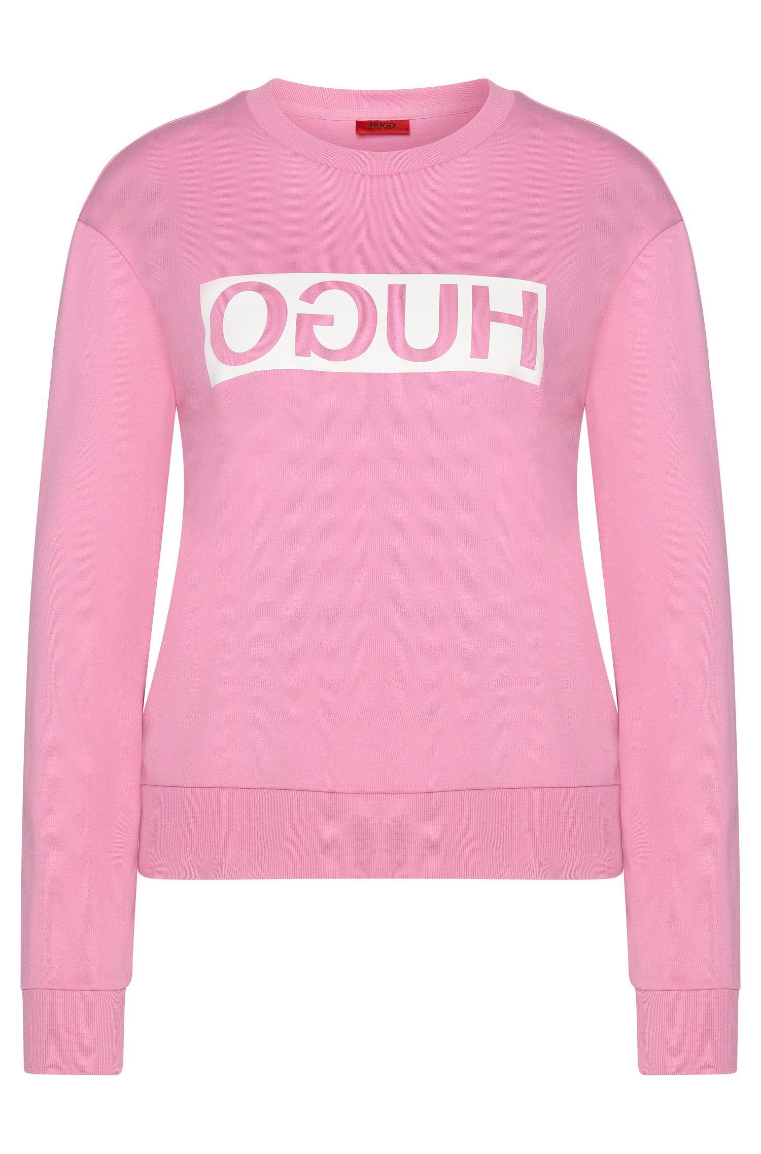 Sweatshirt in cotton with a reversed HUGO logo: 'Nicci'