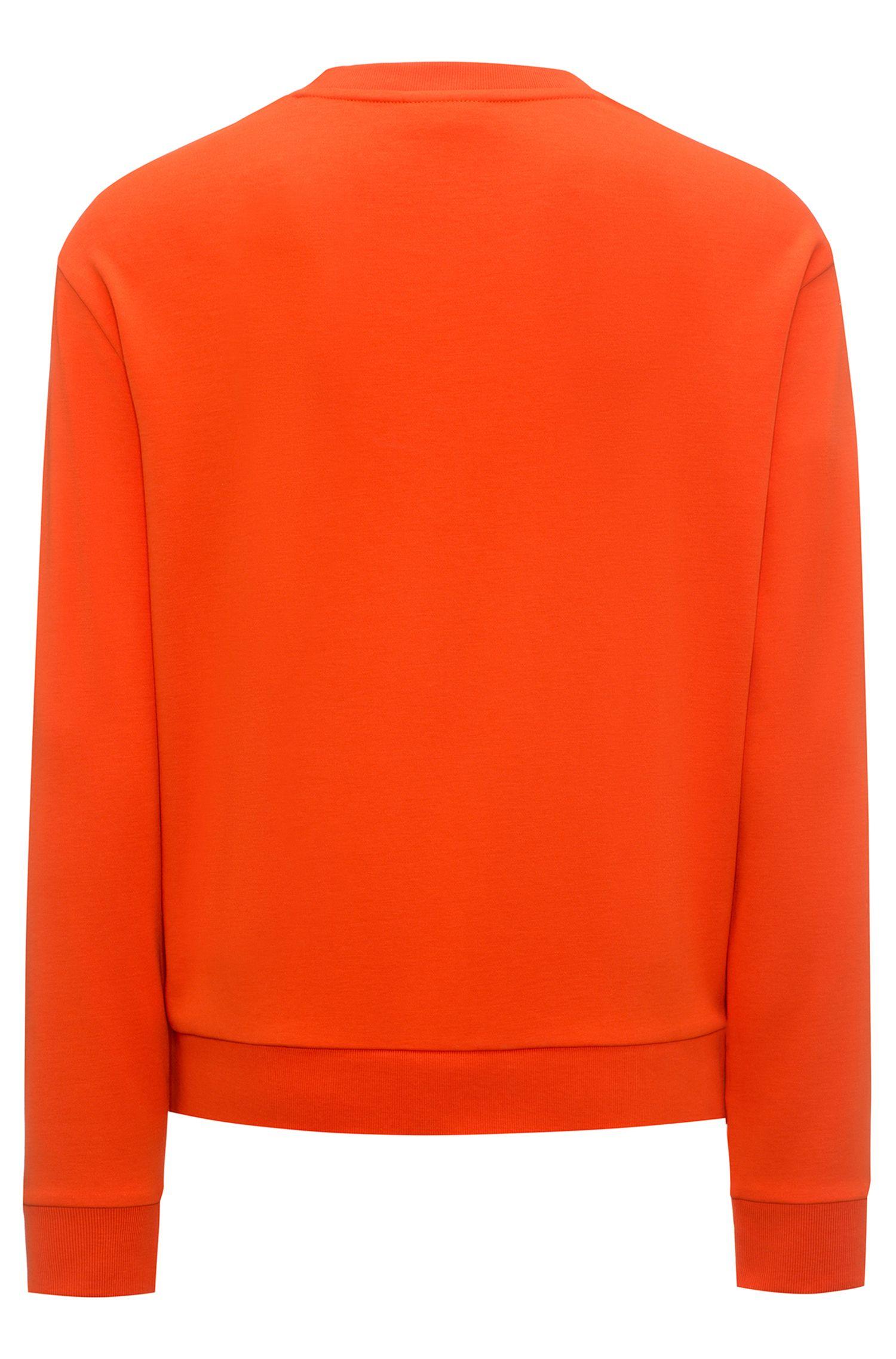 Relaxed-fit sweatshirt van katoen met gespiegeld logo