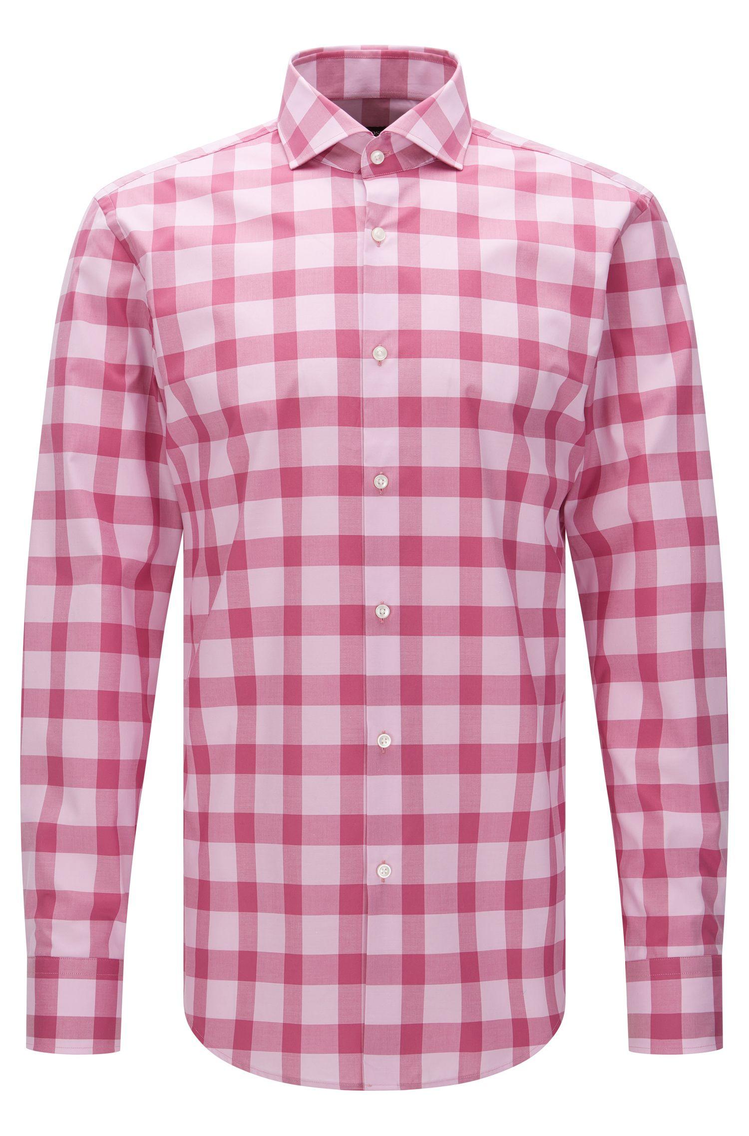 Chemise Slim Fit à carreaux en coton facile à repasser: «Jason»