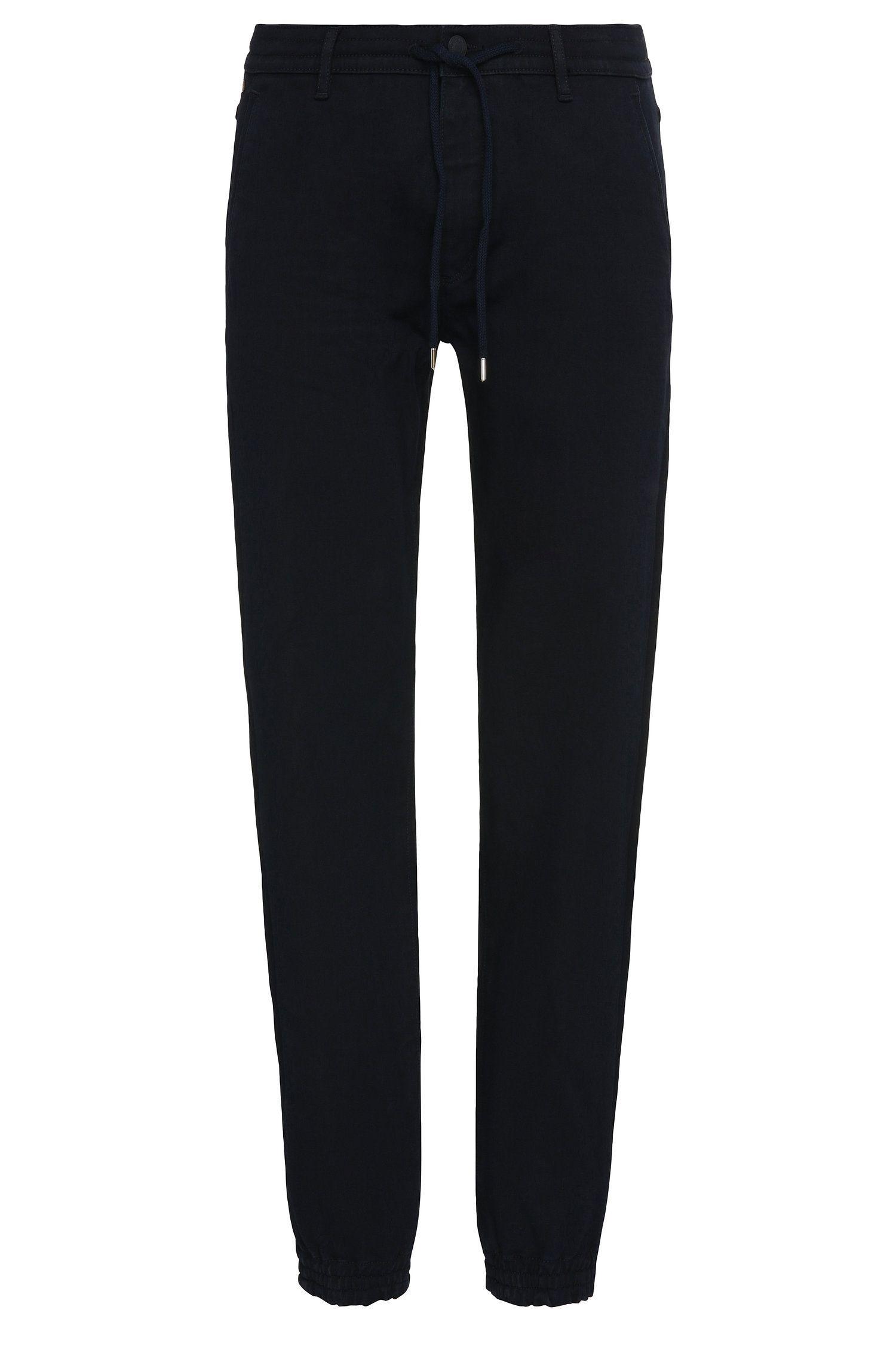Tapered-fit jeans van een elastische katoenmix met modal: 'Darrel2'