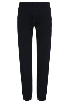 Tapered-fit jeans in a stretchy cotton blend with modal: 'Darrel2', Dark Blue