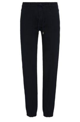 Tapered-fit jeans van een elastische katoenmix met modal: 'Darrel2', Donkerblauw