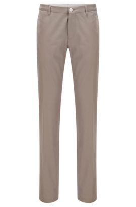 Slim-Fit-Hose aus Stretch-Baumwolle, Beige