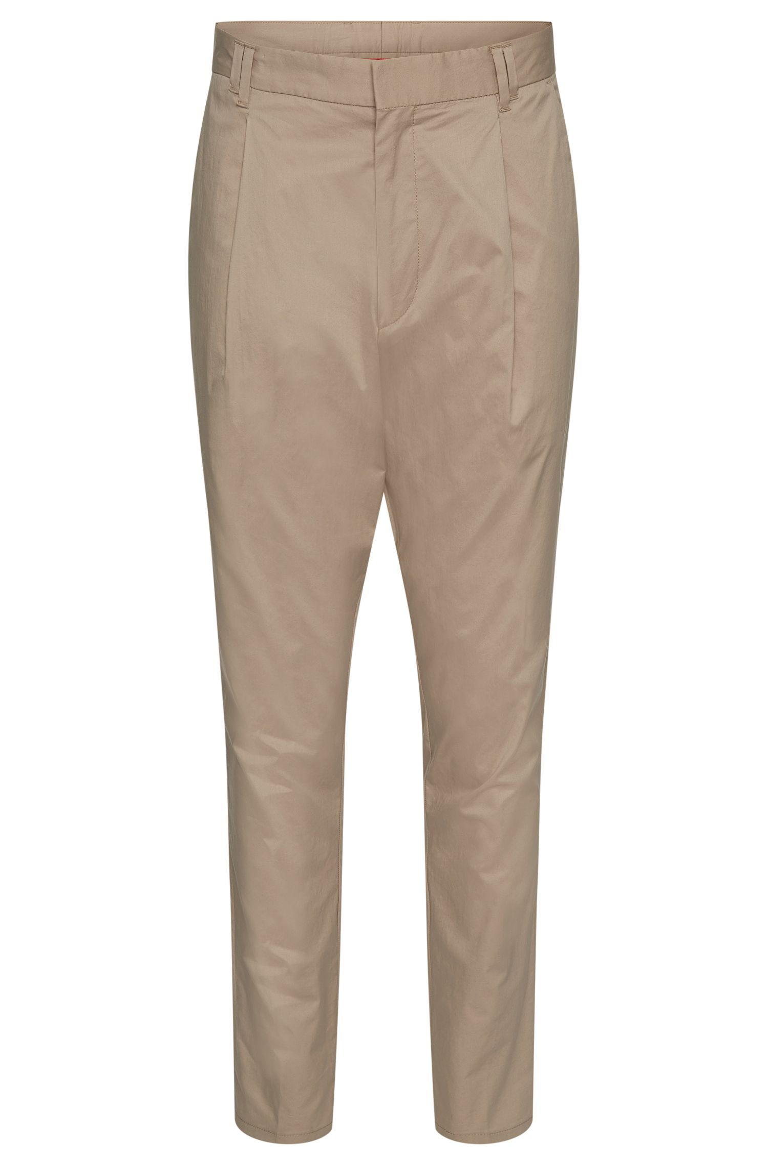 Tapered-fit chinos in stretch cotton: 'Hegart'