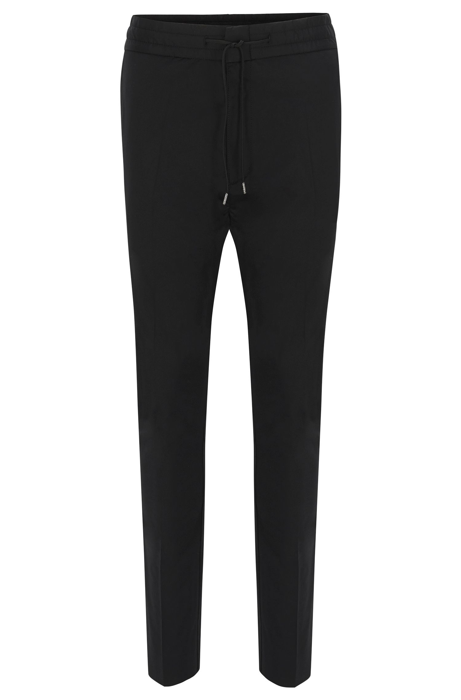 Pantalon Tapered Fit en coton stretch, avec cordon de serrage : « Himesh4 »