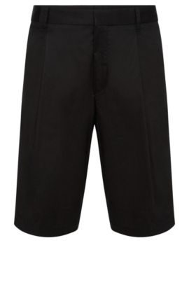 Relaxed-Fit Shorts aus Stretch-Baumwolle: 'Himon', Schwarz