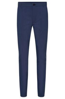 Pantalon Slim Fit en laine vierge mélangée: «Heldor2», Bleu