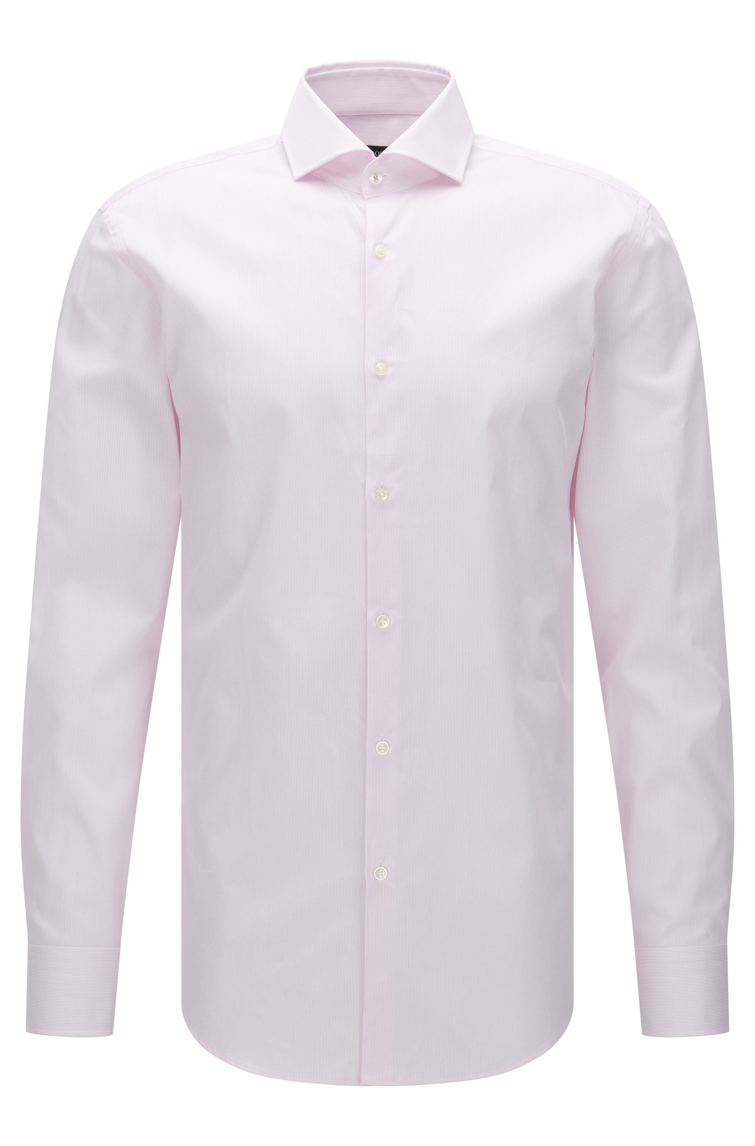 Fijngestreept slim-fit overhemd van katoen: 'Jerrin'