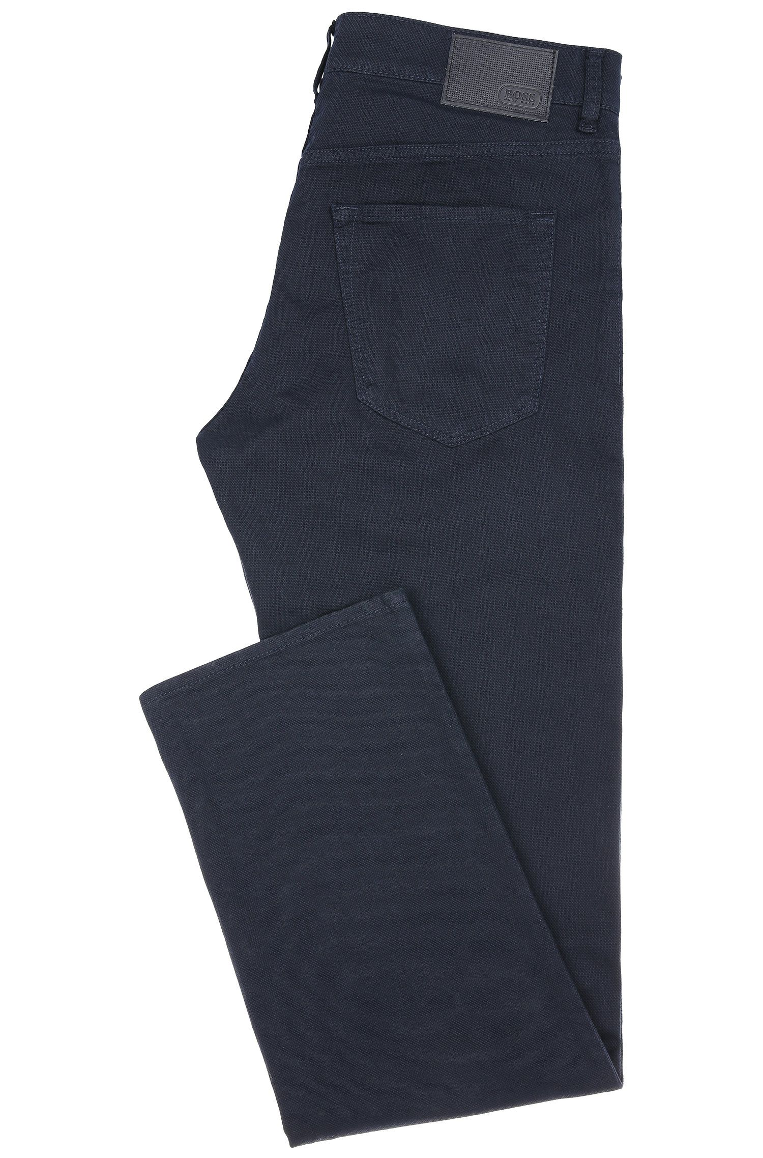 Jeans Regular Fit en coton stretch : « C-Maine1-2-20 », Bleu foncé