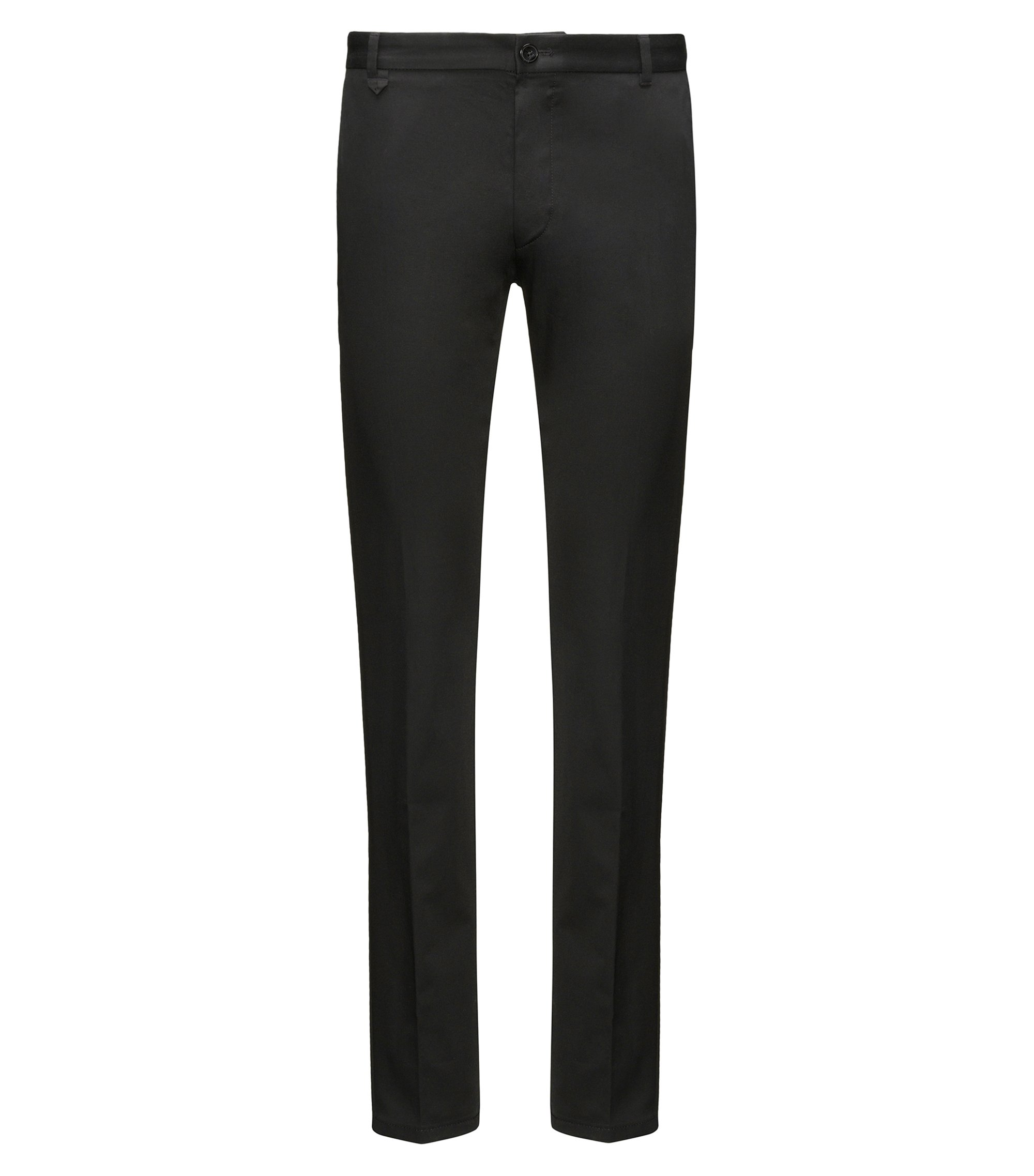 Pantalon Extra Slim Fit en coton stretch, Noir