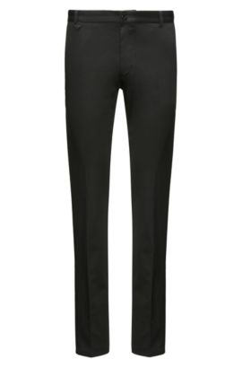 Extra-slim-fit trousers in stretch cotton, Black