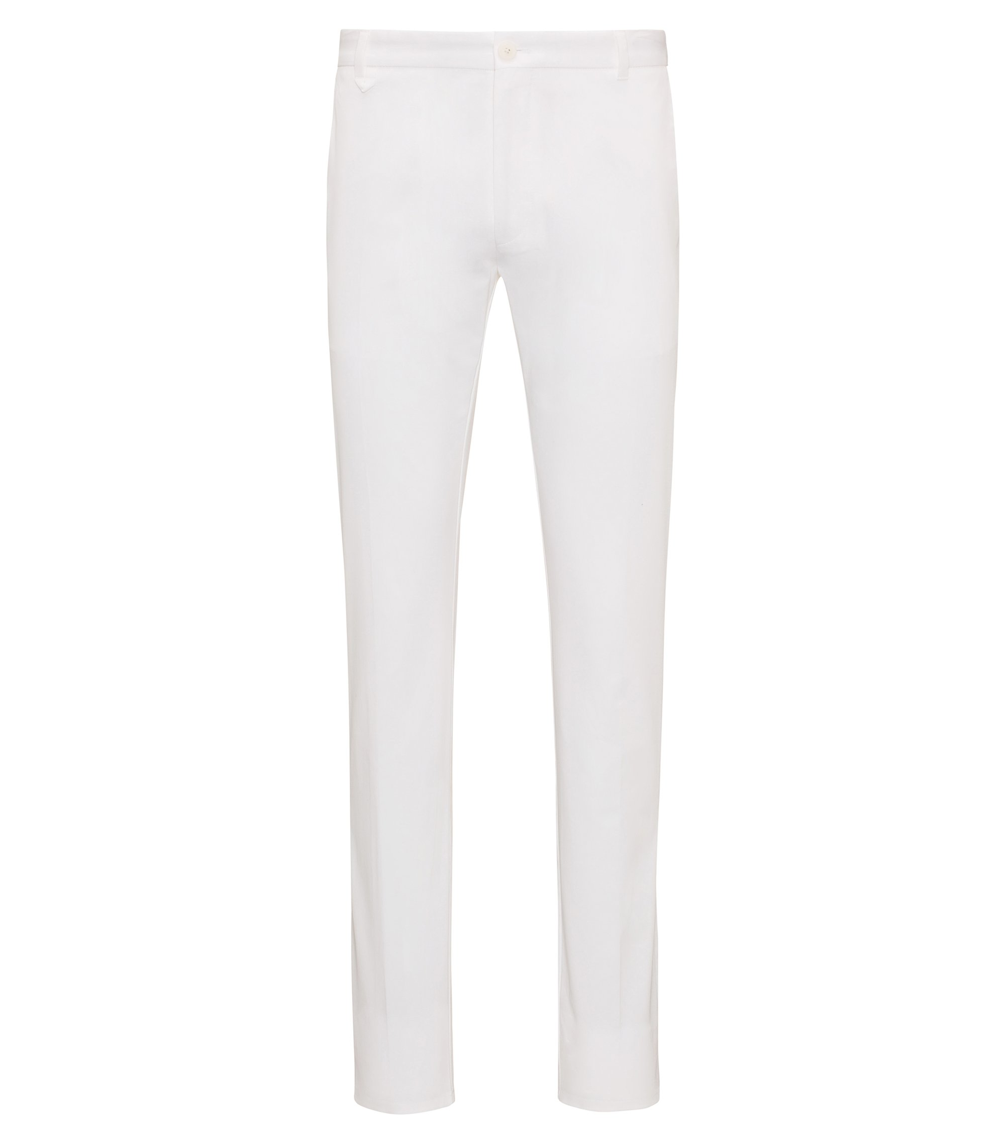 Extra-slim-fit trousers in stretch cotton, White