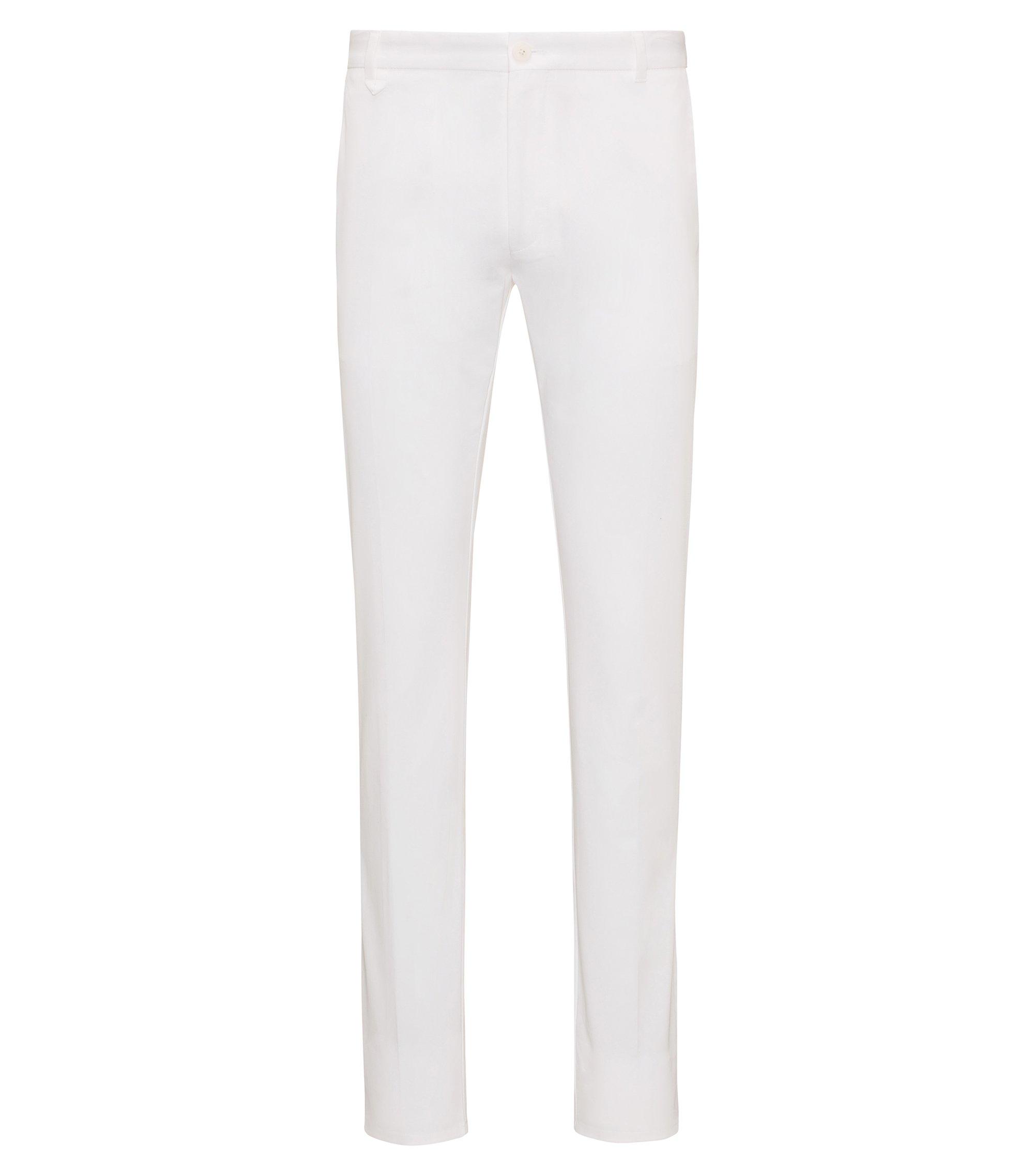 Extra Slim-Fit Hose aus Stretch-Baumwolle, Weiß