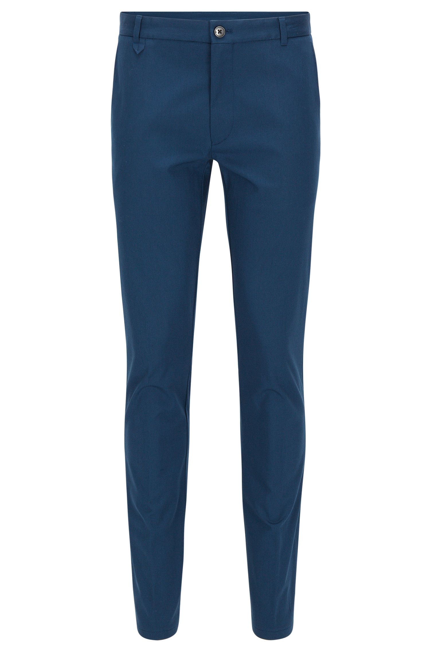 Pantalón extra slim fit en algodón elástico