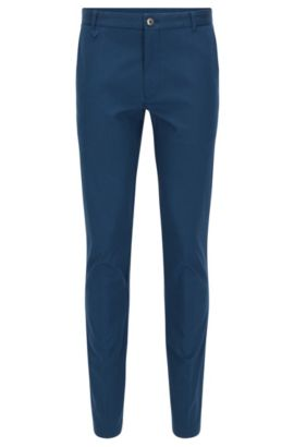 Pantalon Extra Slim Fit en coton stretch, Bleu foncé