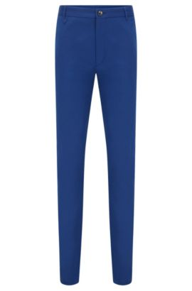 Extra-slim-fit trousers in stretch cotton, Blue