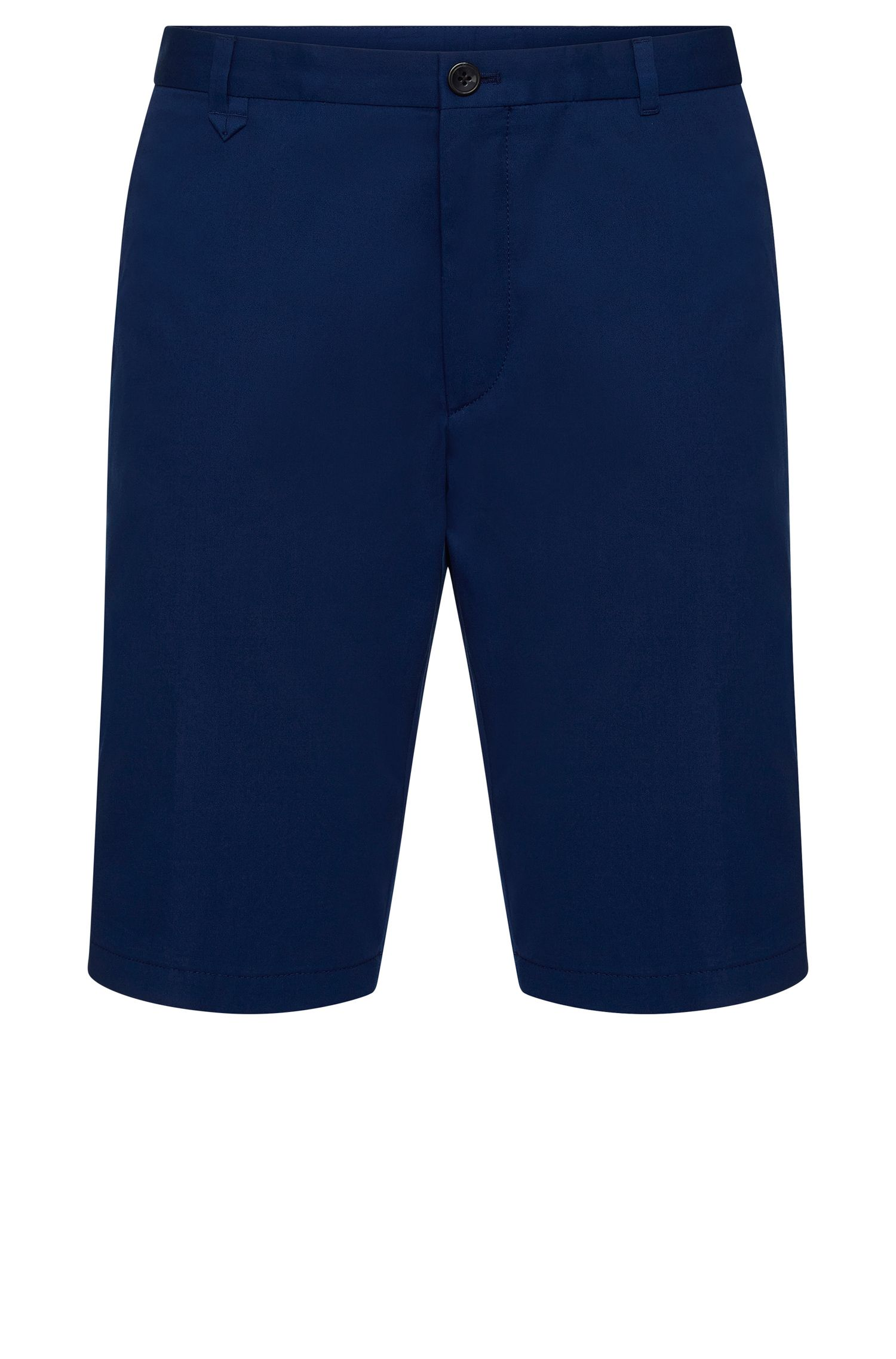 Plain slim-fit shorts in stretch cotton: 'Hano3'