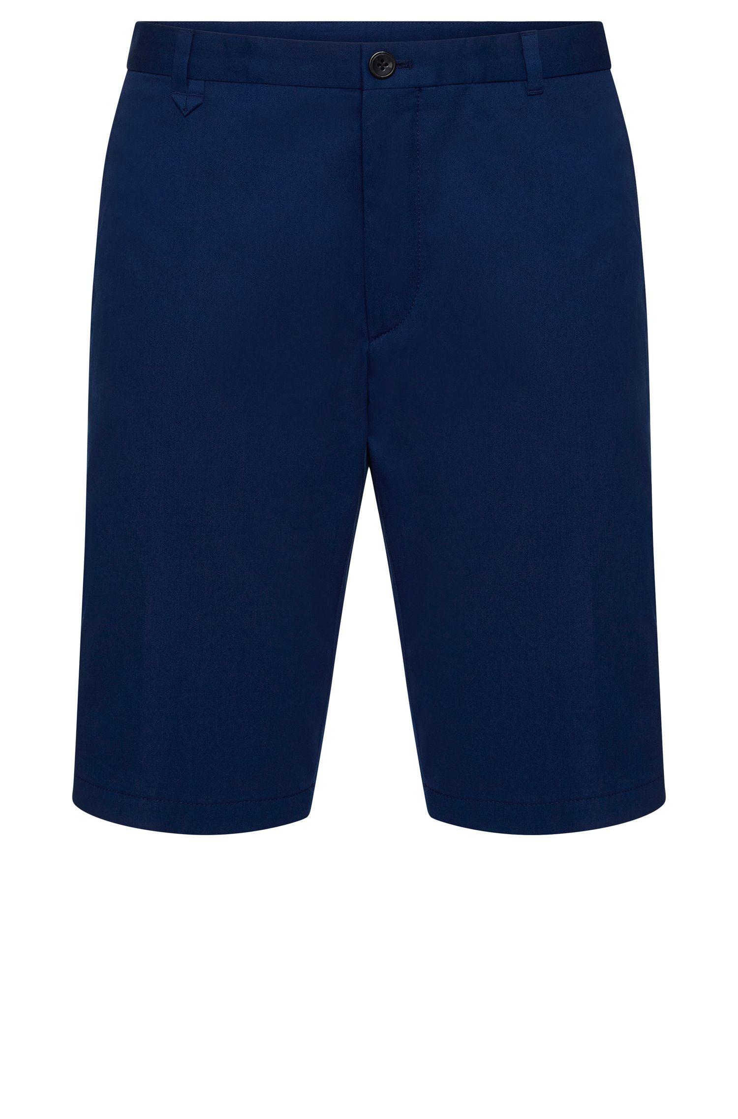 Shorts lisos slim fit en algodón elástico: 'Hano3'