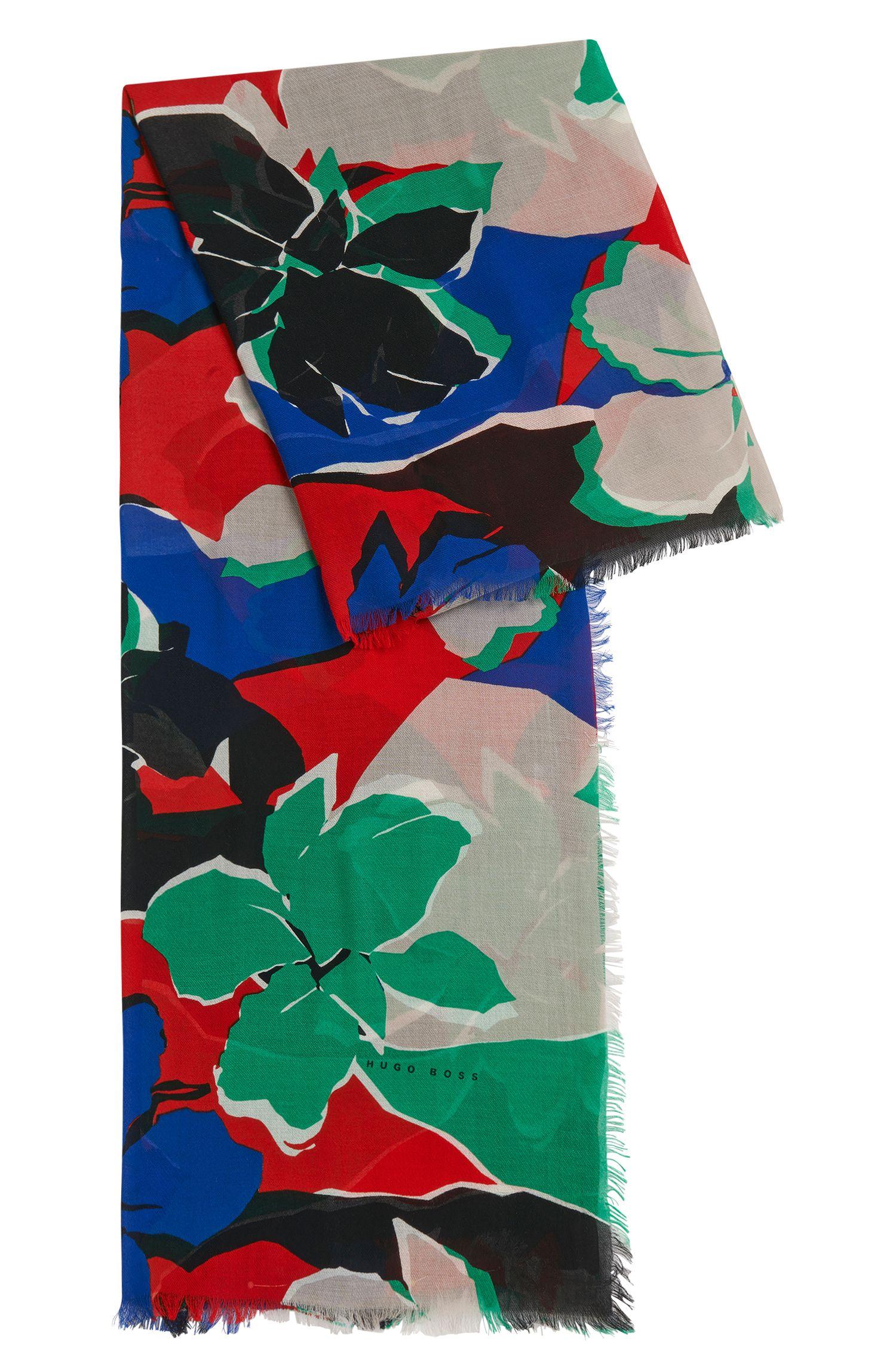 Pañuelo estampado en mezcla de algodón suave con modal: 'Lemina'