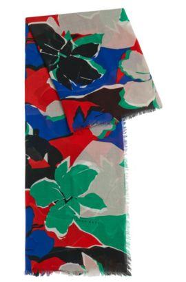 Foulard à motif en doux coton mélangé à teneur en modal: «Lemina», Fantaisie