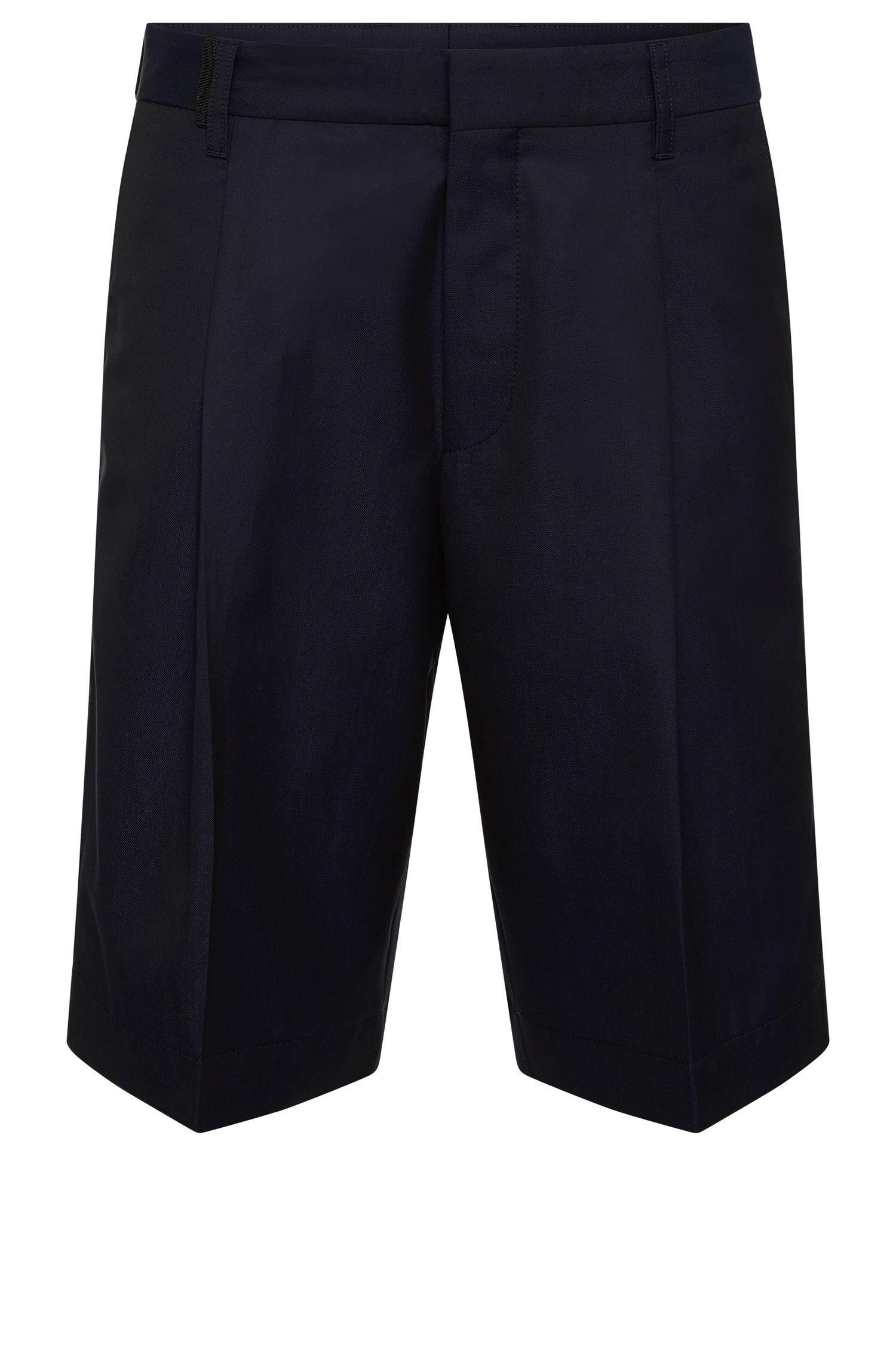 Shorts relaxed fit en mezcla de lana virgen con algodón: 'Himon'