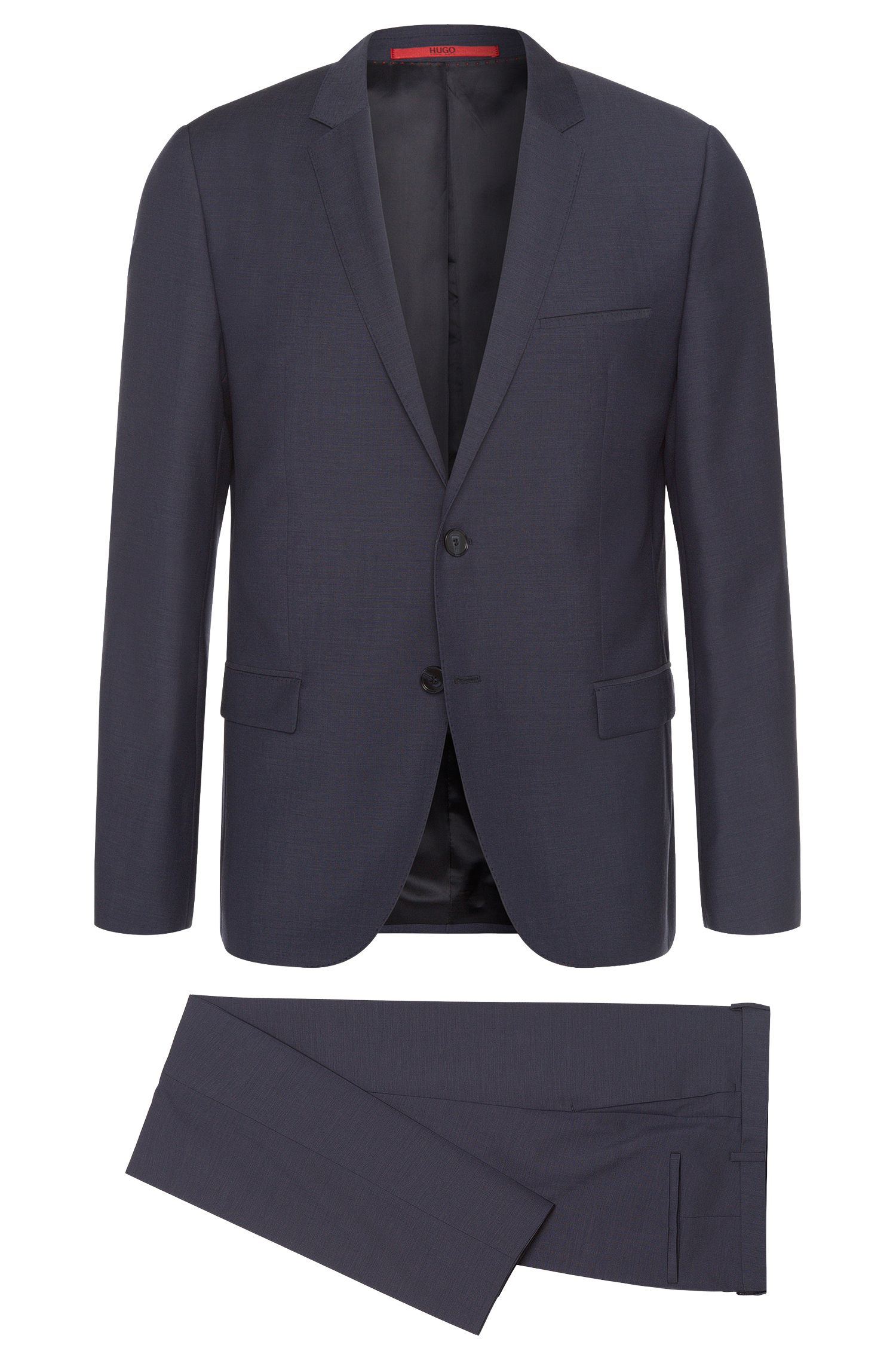Slim-fit suit in new wool with topstitching: 'Ardo/HemarHM'