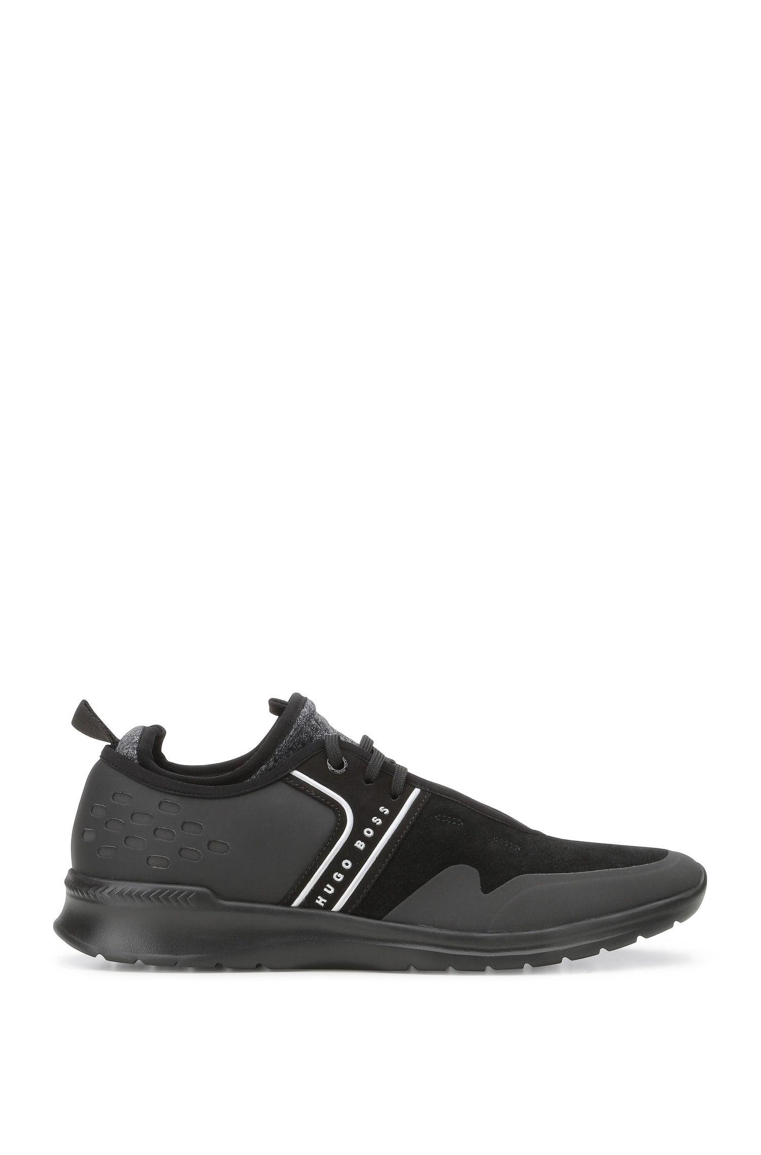 Sneakers van een materiaalmix met leer en textiel: 'Extreme_Runn_sdmx'