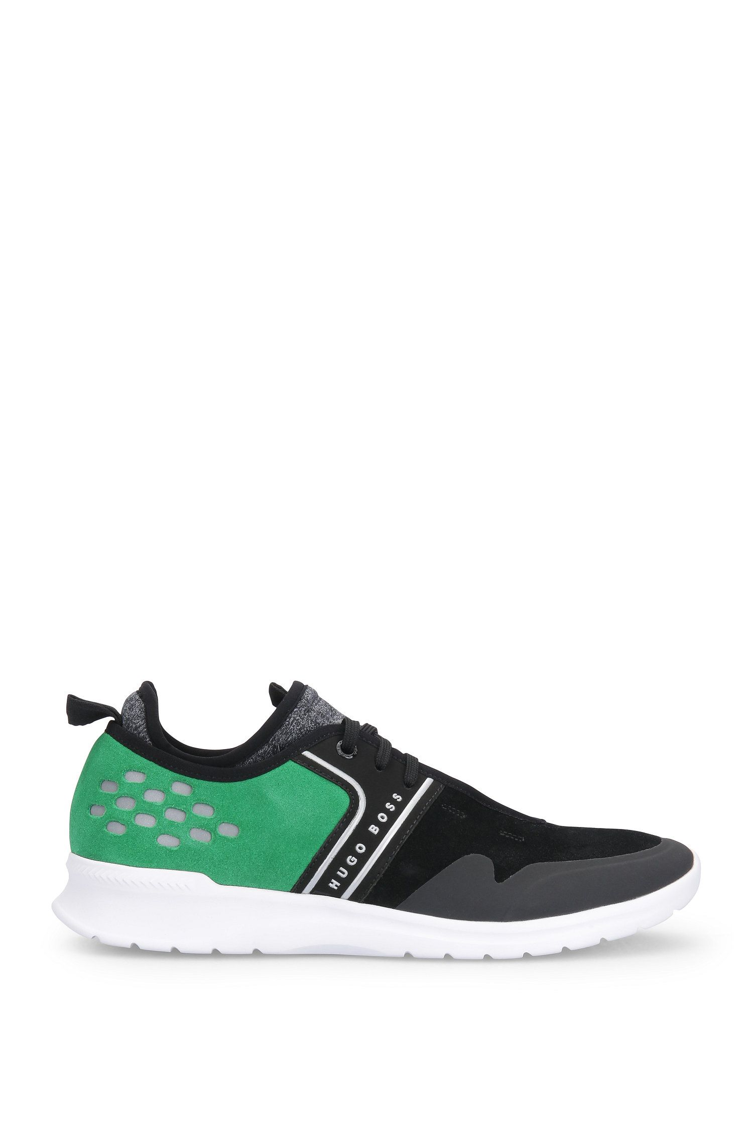 Perforated suede trainers with textile: 'Extreme_Runn_sd'