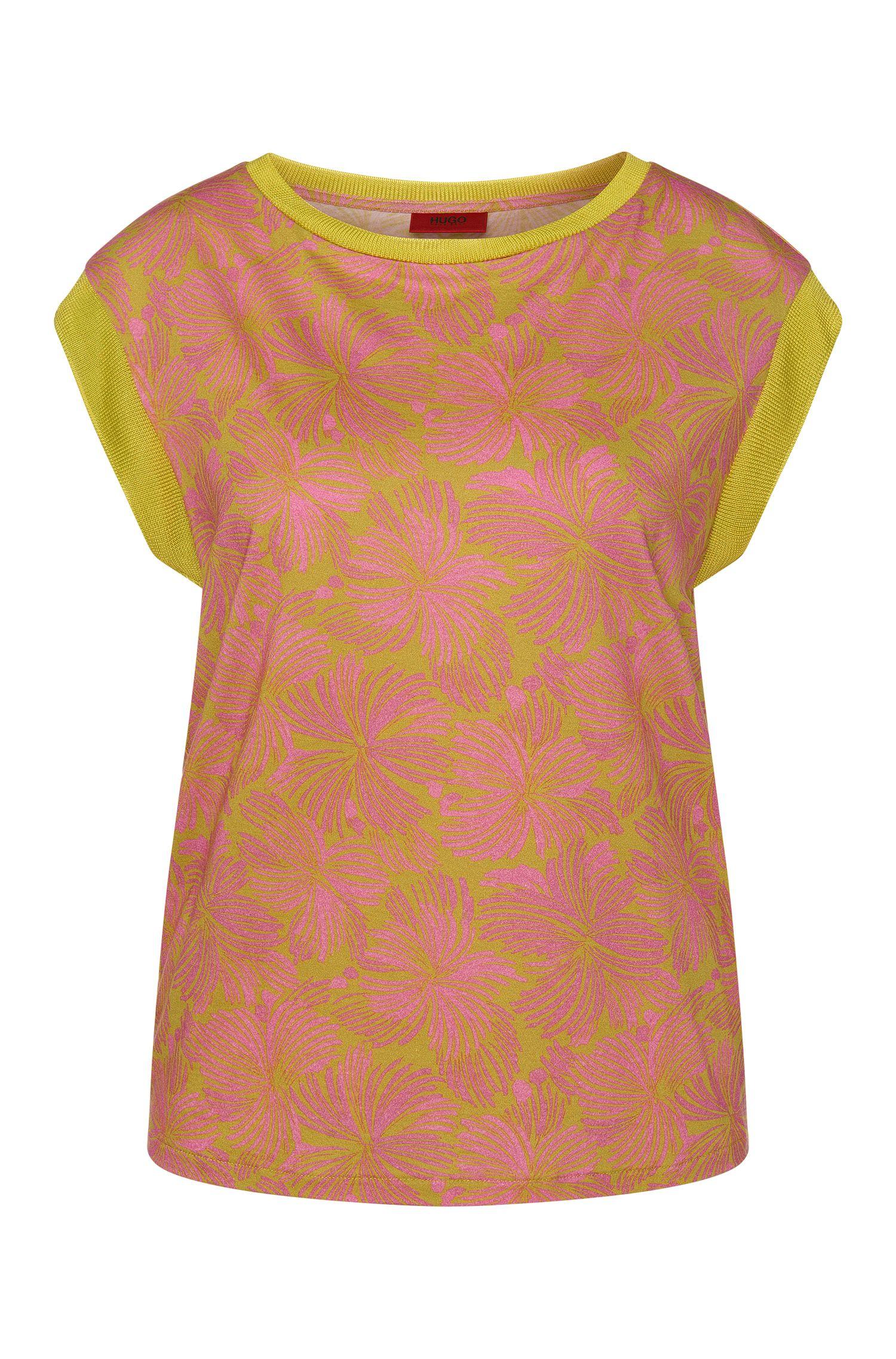 Gemustertes T-Shirt aus Baumwoll-Modal-Mix: 'Derica'