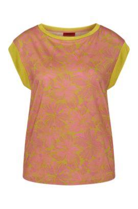 T-shirt à motif en mélange de coton et modal: «Derica», Fantaisie