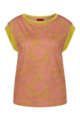 Gemustertes T-Shirt aus Baumwoll-Modal-Mix: 'Derica', Gemustert