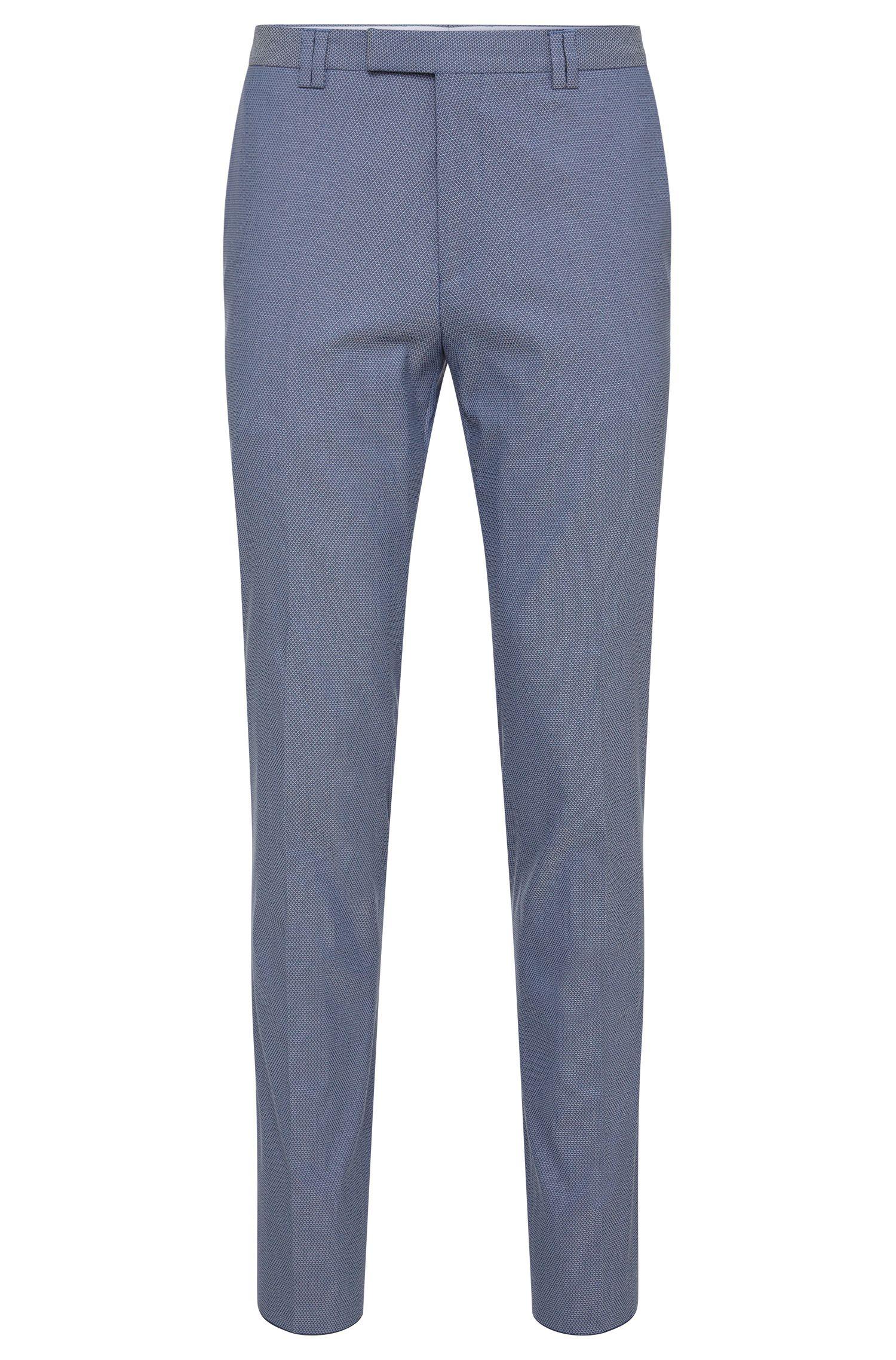 Strukturierte Slim-Fit Hose aus elastischem Baumwoll-Mix: 'Heilon'