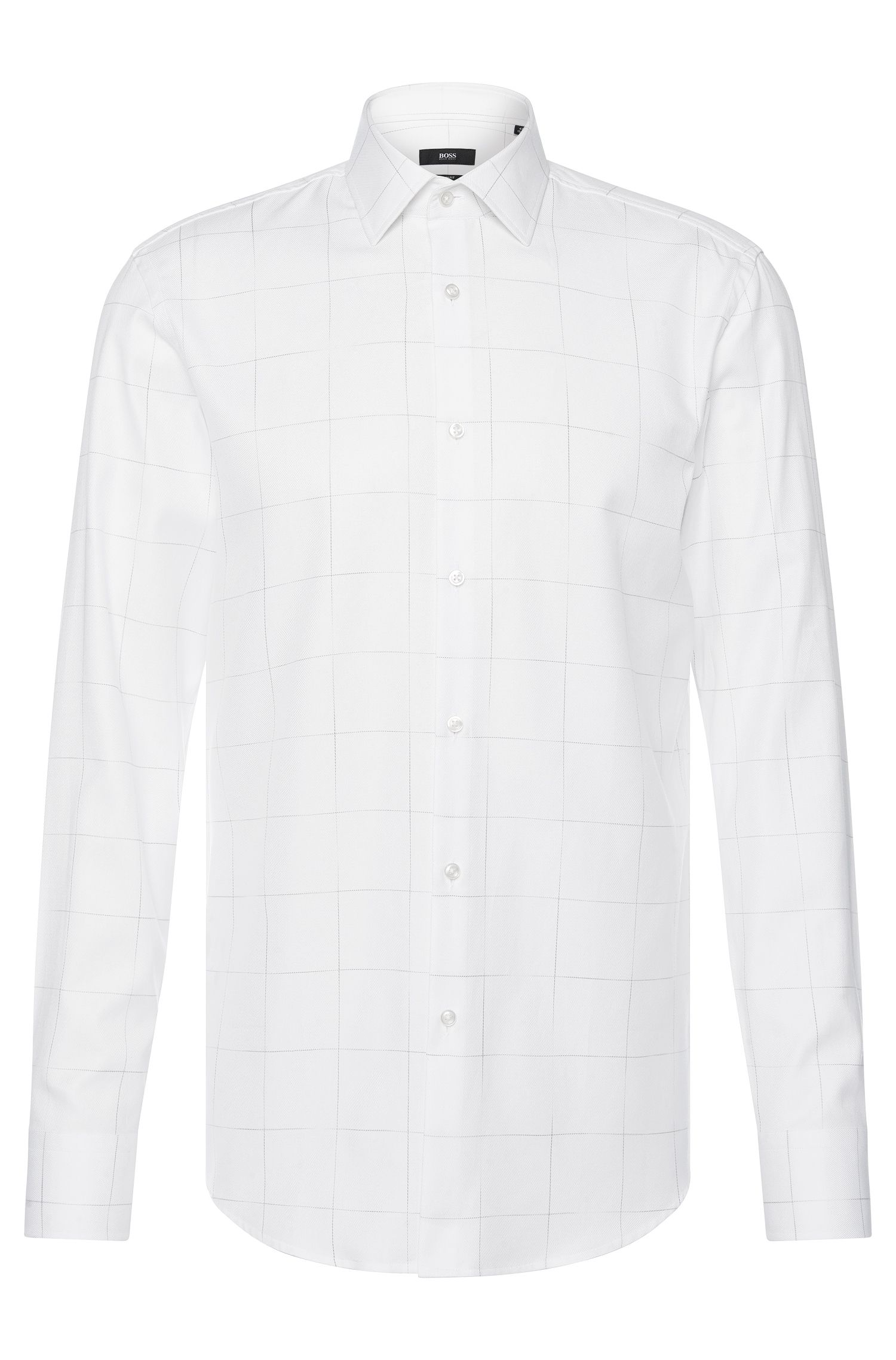 Camisa slim fit de cuadros en algodón: 'Jenno'