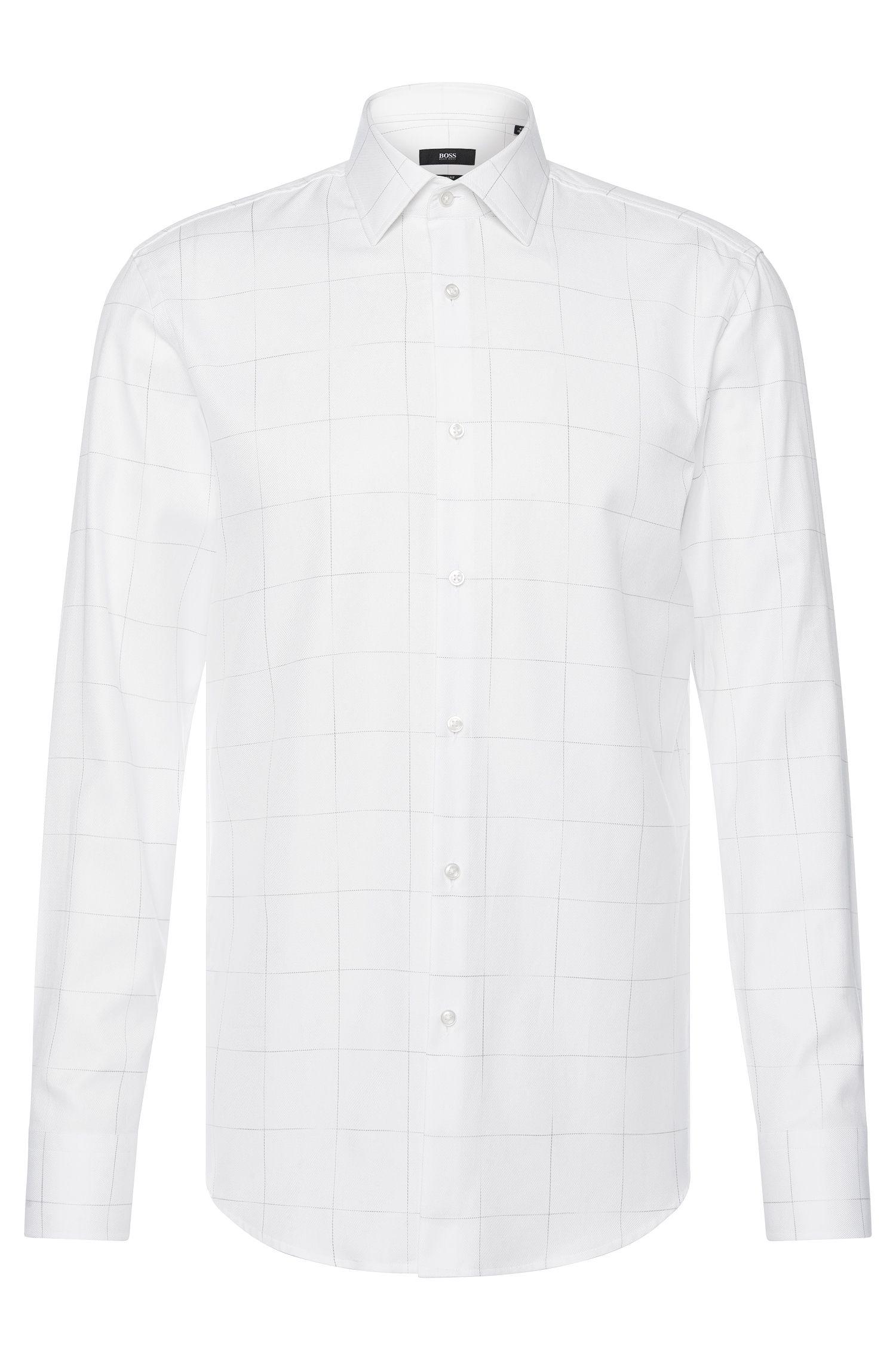 Kariertes Slim-Fit Hemd aus Baumwolle: 'Jenno'