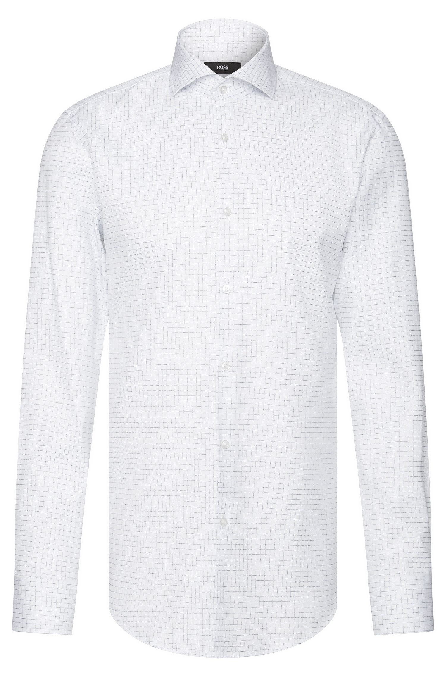 Camicia slim fit a quadri in cotone: 'Jason'