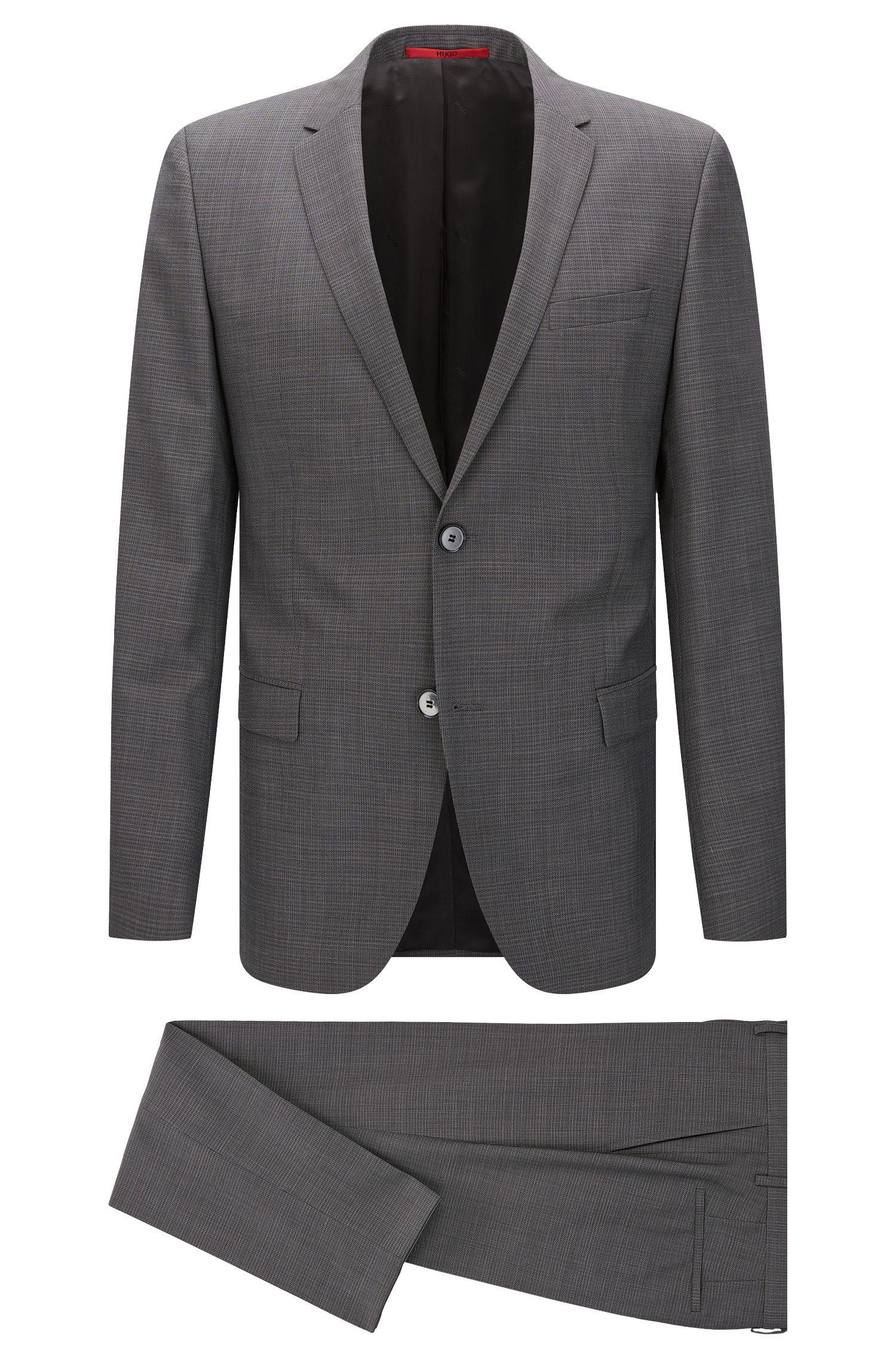 Fein gemusterter Regular-Fit Anzug aus Schurwolle: 'Anlon/Hets'