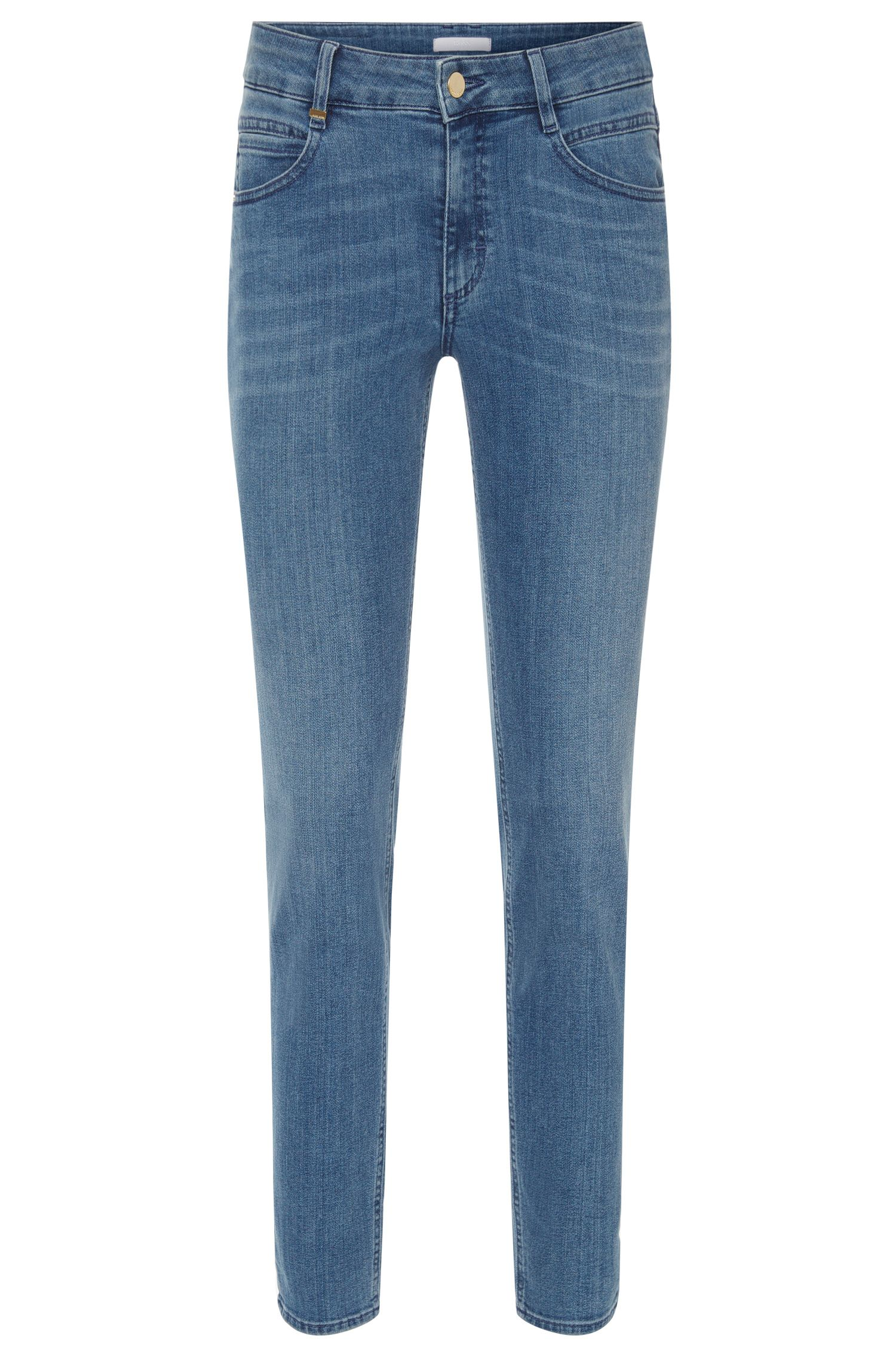 Regular-fit jeans in a stretchy cotton blend: 'Nelin'