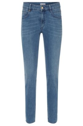 Regular-fit jeans in a stretchy cotton blend: 'Nelin', Blue
