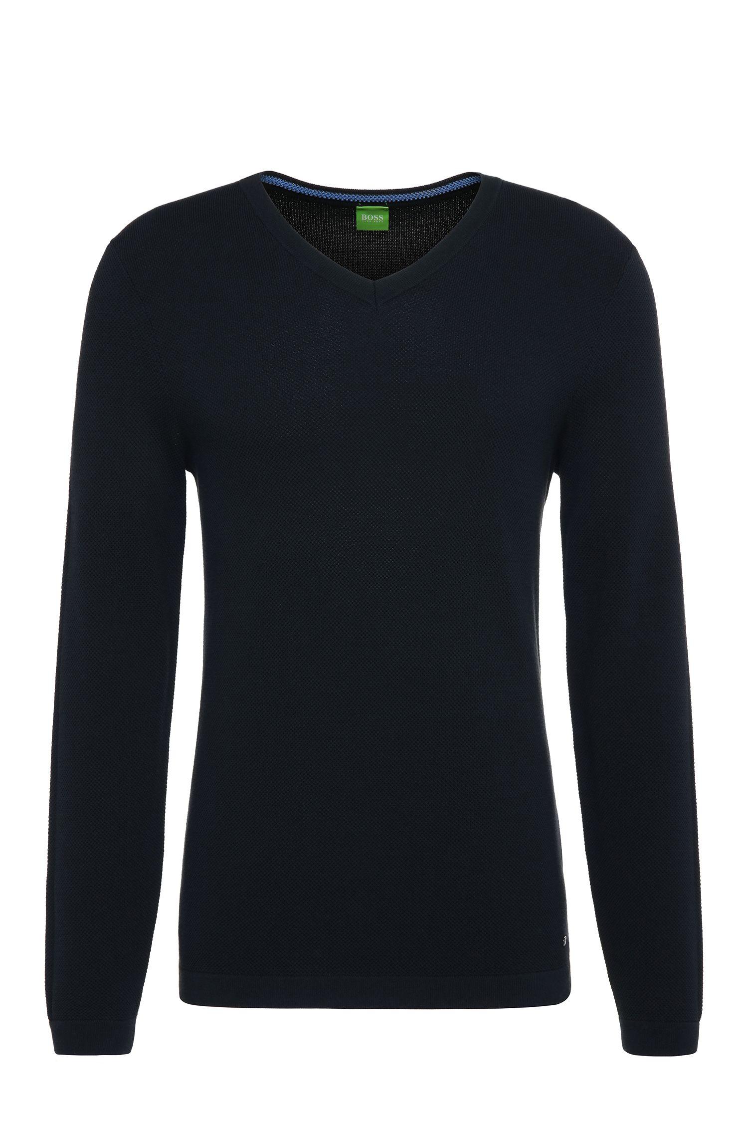 Maglione slim fit in maglia di cotone: 'Vayn'