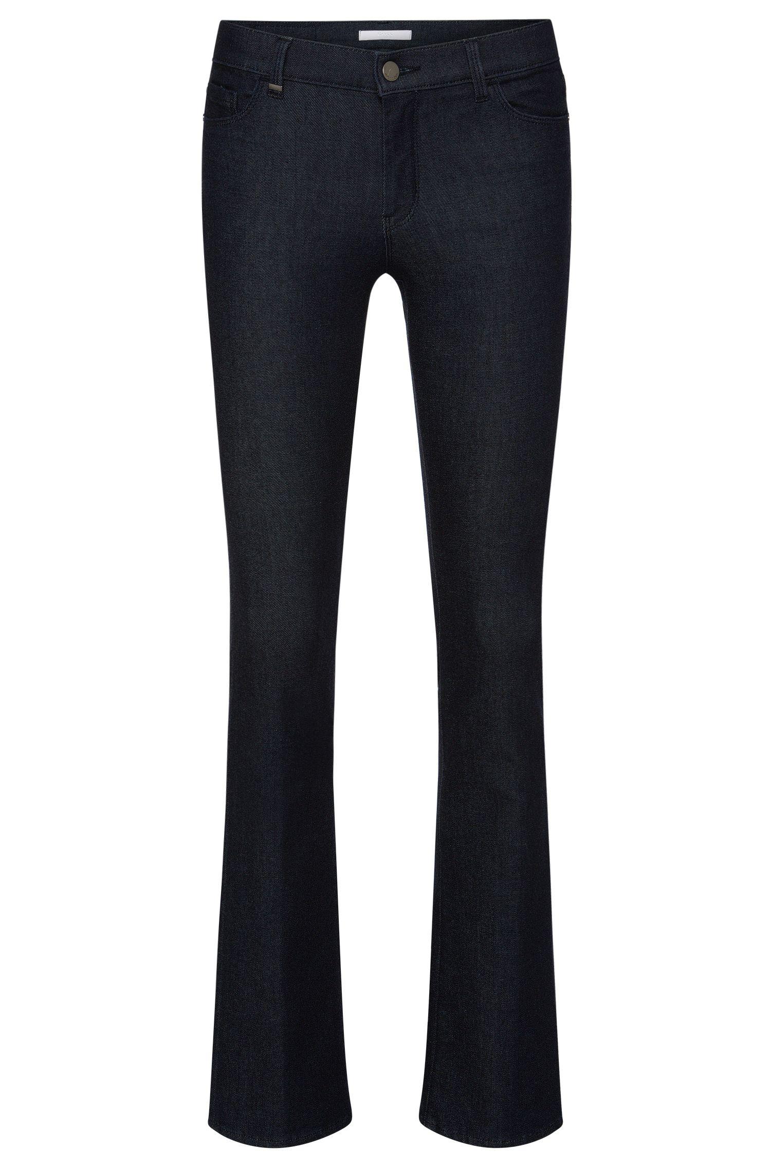 Regular-Fit Jeans aus elastischem Baumwoll-Mix mit ausgestelltem Bein: 'Niona'