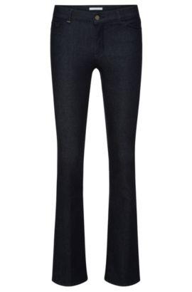 Regular-Fit Jeans aus elastischem Baumwoll-Mix mit ausgestelltem Bein: 'Niona', Dunkelblau