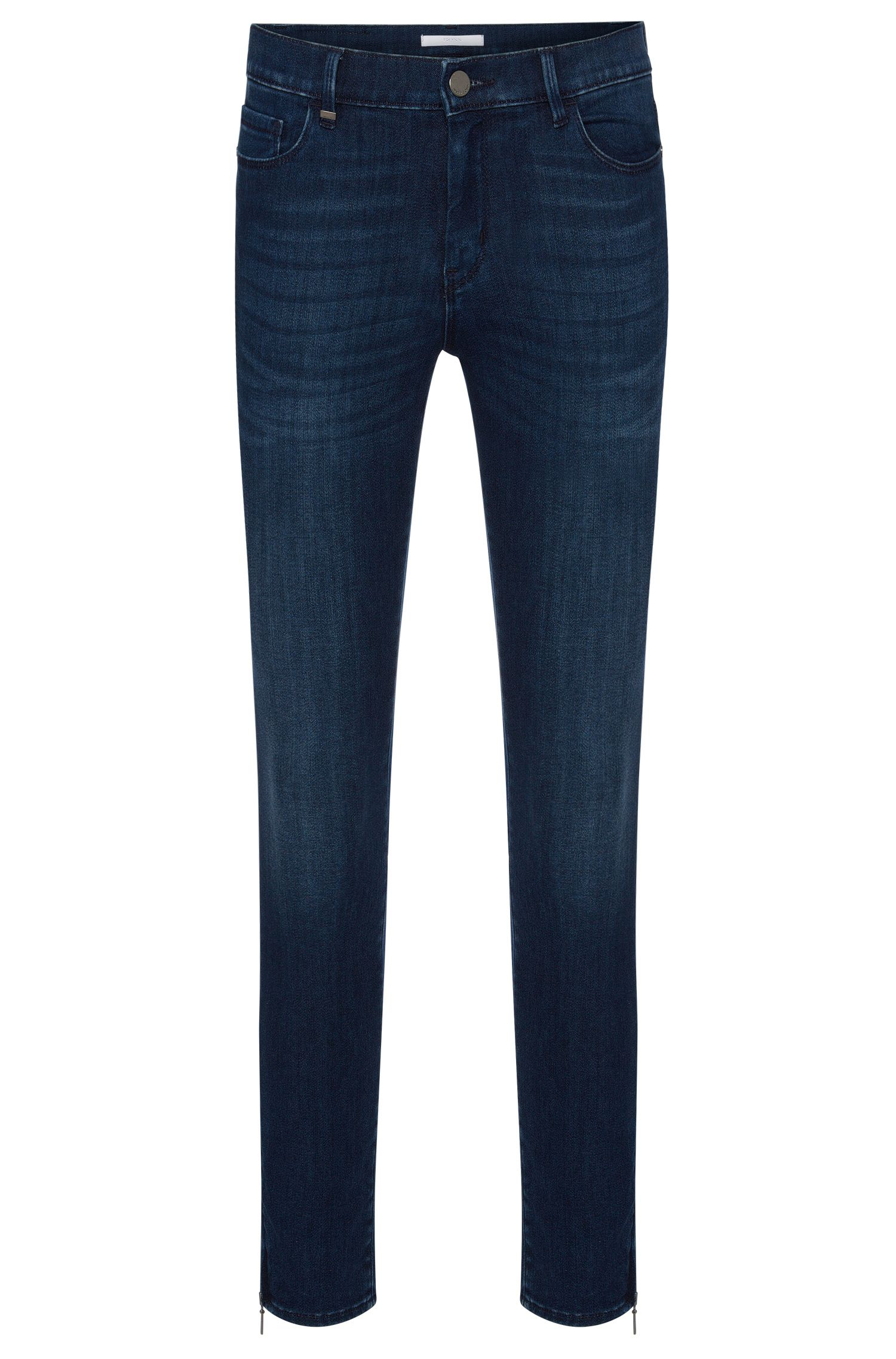 Slim-fit jeans in a stretchy cotton blend with zip details: 'Nafice Zip'